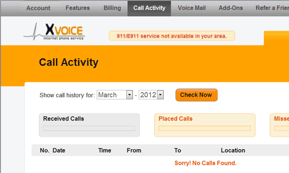 Managing Call Activity in Axvoice