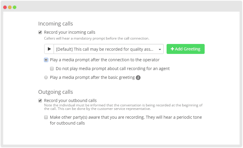 Call Recording Feature in MightyCall
