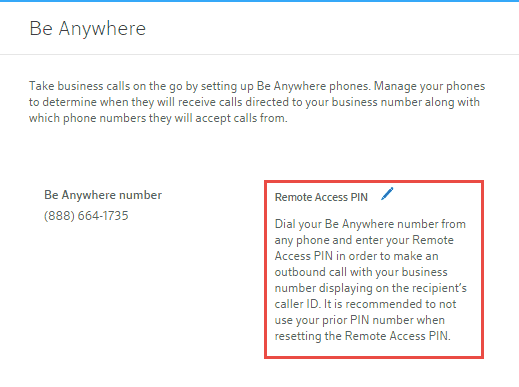 The Be Anywhere Feature