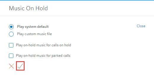 Music On Hold Setup