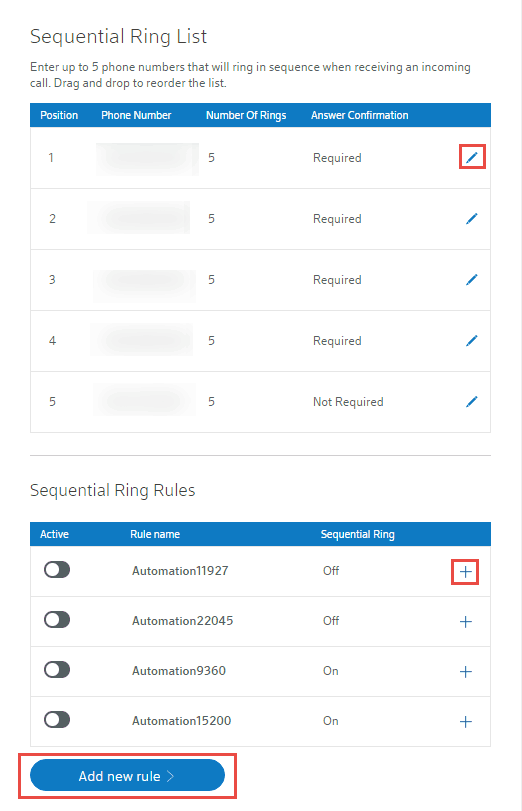 Setting up Sequential Ring