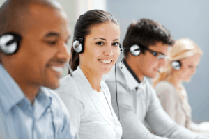 Customer support service with VoIP