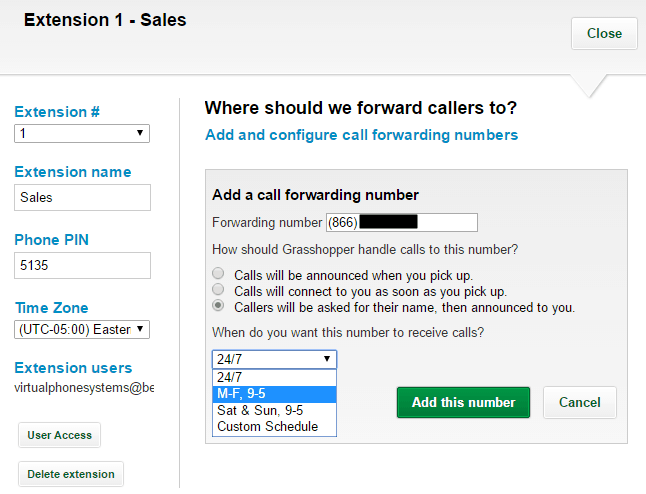 Call Forwarding Setup in Grasshopper
