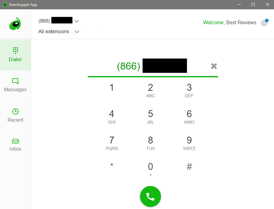 The Desktop App's Dialer