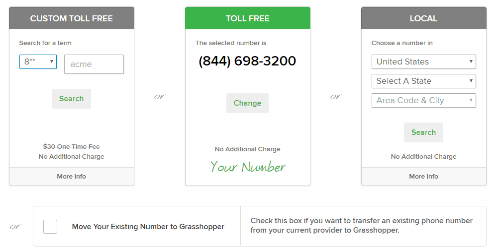 The Available Grasshopper Phone Numbers