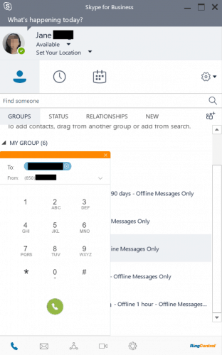 RingCentral Integrated Into Skype for Business