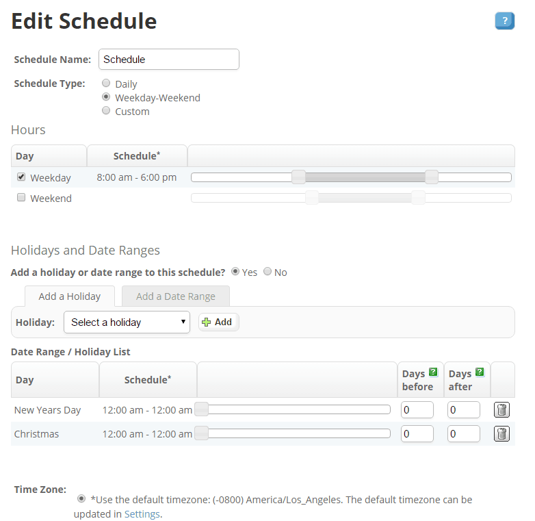 Editing a Schedule in Phone.com