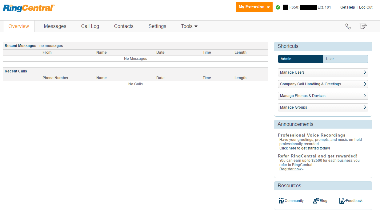 RingCentral's Phone System Manager
