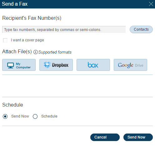 Online Faxing in RingCentral