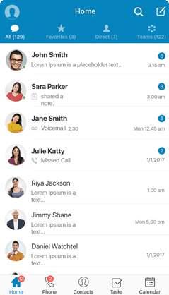 Messaging in the Glip Mobile App