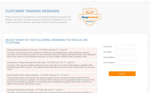 RingCentral Webinars