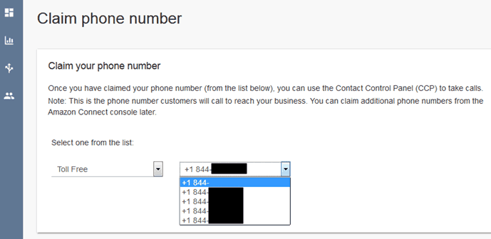 Phone Numbers Available for Amazon Connect