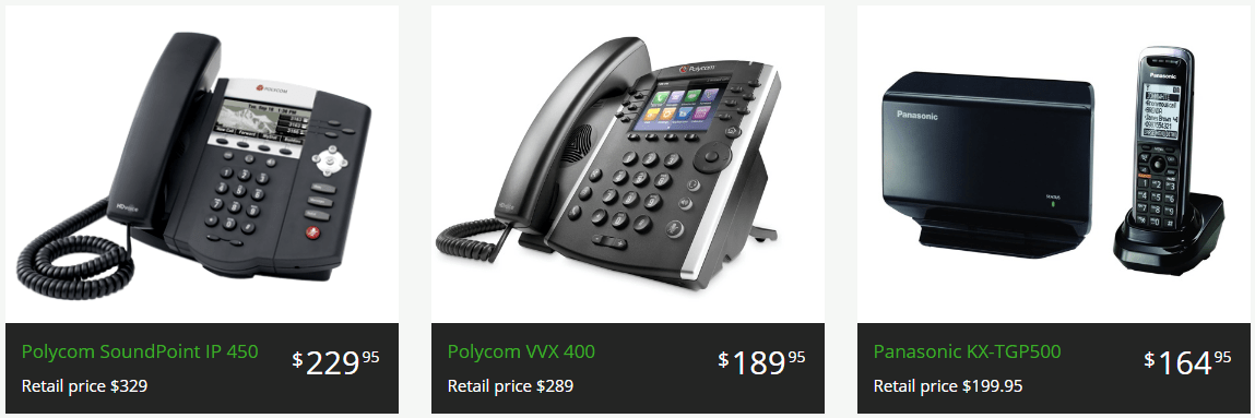 Available VoIP Desk Phones at Phone.com