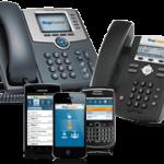 Desktop phones and smartphones for VoIP