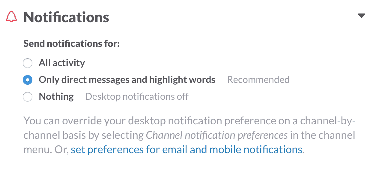 Slack Desktop Notifications