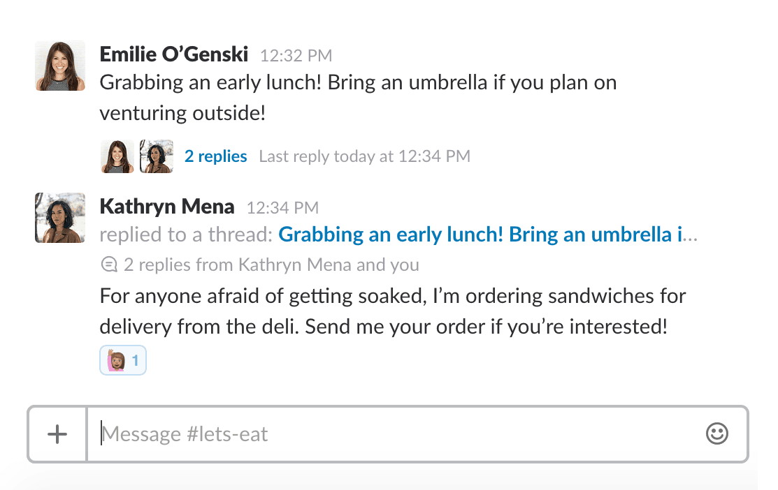 Messaging in Slack