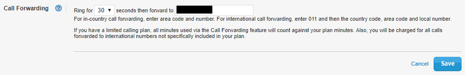 Call Forwarding in Vonage