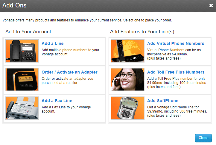 Extra Features for a Vonage Subscription