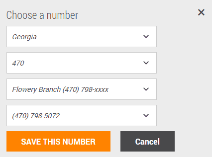 Selecting a New Phone Number